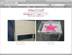 Alley Craft Artisian Showcase & Blog Website